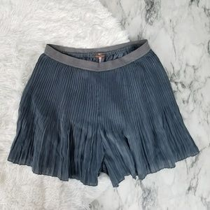 Free People Shorts - Free people metallic pleated shorts size medium